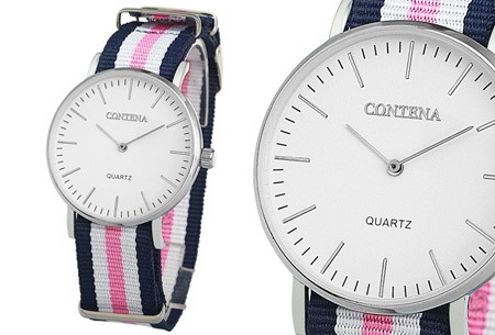 Contena horloge nu slechts €6,95 + bestel er diverse horlogebandjes bij voor maar €1,95! horloge #7