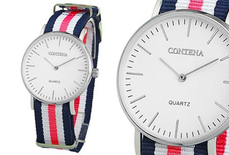 Contena horloge nu slechts €6,95 + bestel er diverse horlogebandjes bij voor maar €1,95! horloge #8