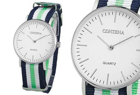 Contena horloge nu slechts €6,95 + bestel er diverse horlogebandjes bij voor maar €1,95! horloge #9