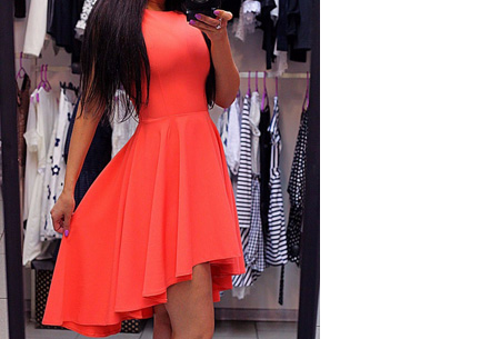 Classy jurk nu slechts €16,95 | Dress to impress! Oranje/Rood