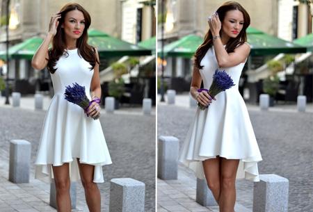 Classy jurk nu slechts €16,95 | Dress to impress! Wit
