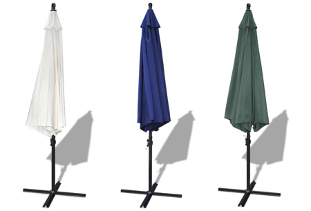 Zweefparasol nu slechts €79,95 | Zomer musthave voor je tuin of terras!