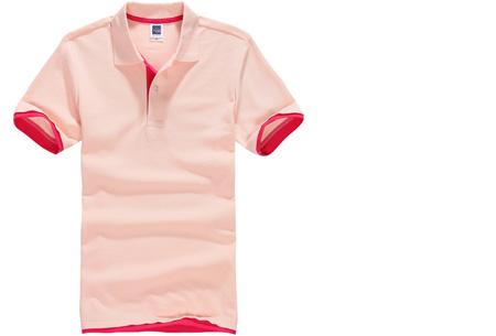 Duocolor heren polo nu slechts €12,95 | Voor de maten S t/m 3XL in 15 kleuren! #6 Roze - Fuchsia