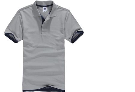 Duocolor heren polo nu slechts €12,95 | Voor de maten S t/m 3XL in 15 kleuren! #7 Grijs - Navy