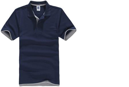 Duocolor heren polo nu slechts €12,95 | Voor de maten S t/m 3XL in 15 kleuren! #9 Navy - Grijs