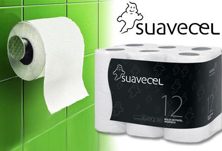STUNTPRIJS! 108 rollen zacht en comfortabel dubbellaags Suavecel toiletpapier nu €19,95!