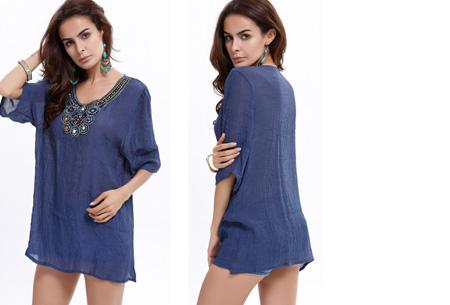 Ibiza tuniek nu slechts €12,95 | Keuze uit verschillende stijlen en kleuren! #A Donkerblauw