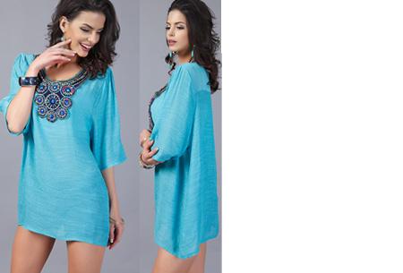 Ibiza tuniek nu slechts €12,95 | Keuze uit verschillende stijlen en kleuren! #A Turquoise