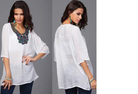 Ibiza tuniek nu slechts €12,95 | Keuze uit verschillende stijlen en kleuren! #A Wit