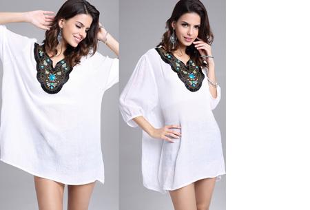 Ibiza tuniek nu slechts €12,95 | Keuze uit verschillende stijlen en kleuren! #B Wit