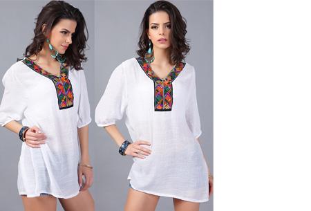 Ibiza tuniek nu slechts €12,95 | Keuze uit verschillende stijlen en kleuren! #D Wit