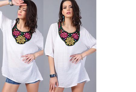 Ibiza tuniek nu slechts €12,95 | Keuze uit verschillende stijlen en kleuren! #E Wit