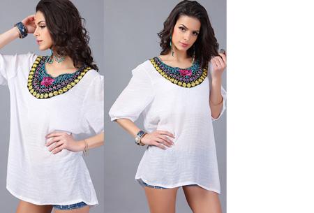 Ibiza tuniek nu slechts €12,95 | Keuze uit verschillende stijlen en kleuren! #F Wit