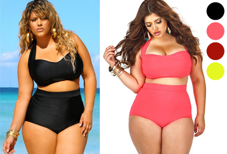 Plus Size high waist bikini nu slechts €19,95! Voor de maten 42/44 t/m 48/50