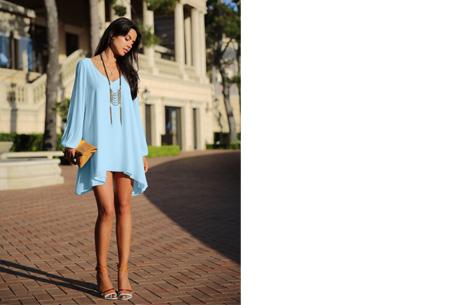 Ibiza jurkje | Zomers, stijlvol & sexy! lichtblauw