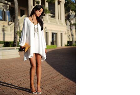 Ibiza jurkje Wit - Ibiza zomerjurkje