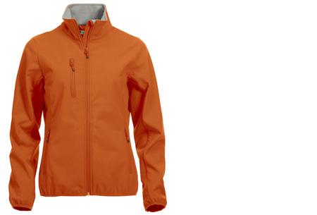 Clique Softshell jackets voor hem en haar nu slechts €34,95 | Beschermt je tegen weer en wind! Diep Oranje