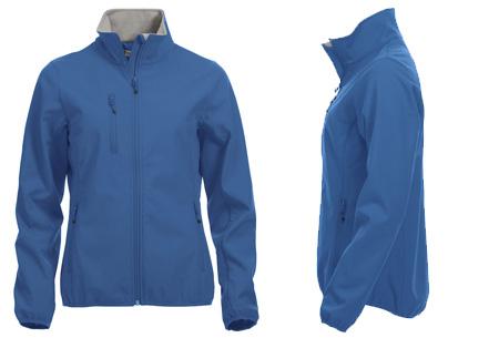 Clique Softshell jackets voor hem en haar nu slechts €34,95 | Beschermt je tegen weer en wind! Kobalt