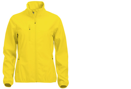 Clique Softshell jackets voor hem en haar nu slechts €34,95 | Beschermt je tegen weer en wind! Lemon