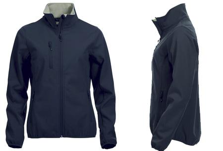 Clique Softshell jackets voor hem en haar nu slechts €34,95 | Beschermt je tegen weer en wind! Dark Navy