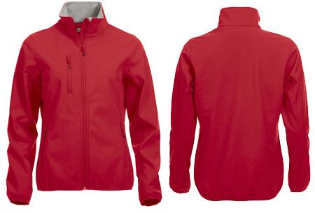 Clique Softshell jackets voor hem en haar nu slechts €34,95 | Beschermt je tegen weer en wind! Rood