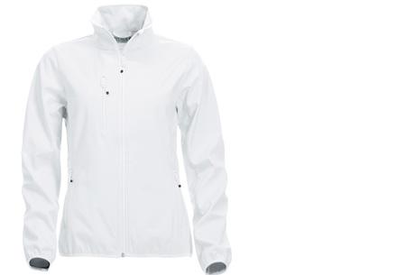 Clique Softshell jackets voor hem en haar nu slechts €34,95 | Beschermt je tegen weer en wind! Wit