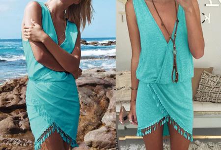 Feather joggingjurk | Comfy jurkje met vrolijke details Turquoise