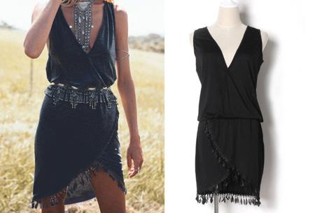 Feather joggingjurk | Comfy jurkje met vrolijke details Zwart