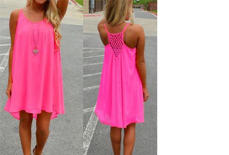 Colorful jurk - Maat XL - Roze