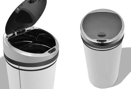 RVS prullenbakken | Met automatische sensor 50 liter