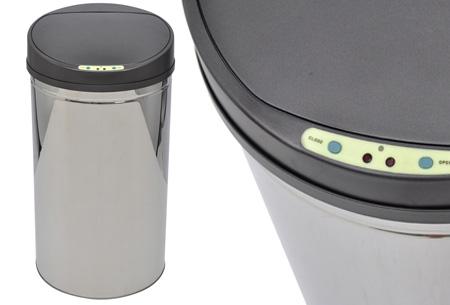 RVS prullenbakken | Met automatische sensor 40 liter