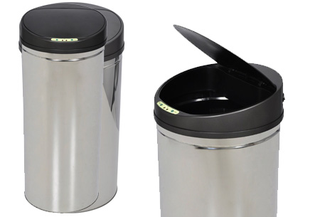 RVS prullenbakken | Met automatische sensor 60 liter