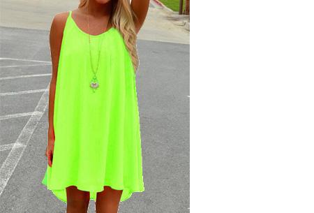 Colorful jurk | Steel de show met deze kleurrijke zomermusthave! Lime groen