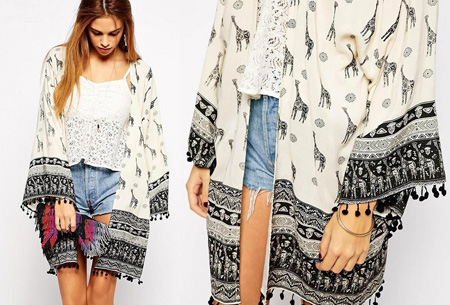 Kimono's in 9 mooie prints nu al vanaf slechts €9,95   Het ideale zomervest! #9 Giraffe