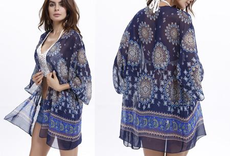 Kimono's in 9 mooie prints nu al vanaf slechts €9,95   Het ideale zomervest! #5 Medaillon blue