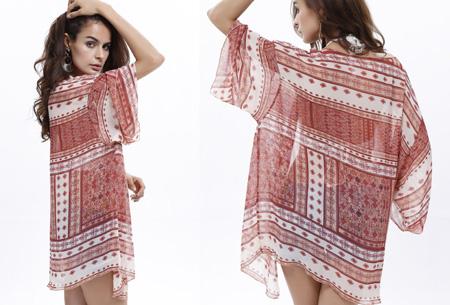 Kimono's in 9 mooie prints nu al vanaf slechts €9,95   Het ideale zomervest! #4 Medaillon red