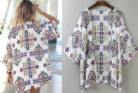 Kimono's in 9 mooie prints nu al vanaf slechts €9,95   Het ideale zomervest! #3 Aztec