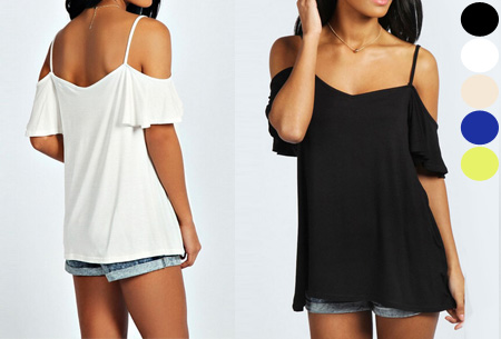 Open shoulder top nu slechts €8,95
