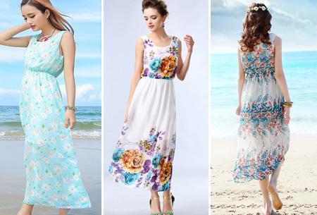 Maxi jurk in diverse prints nu slechts €9,95