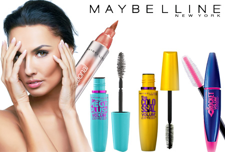 Maybelline mascara €6,95 + GRATIS Maybelline Lipstain!