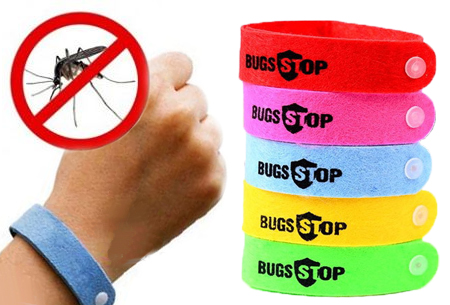 10 gekleurde anti-muggenbandjes t.w.v. €34,95 nu GRATIS!