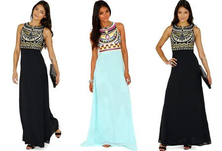 Lange jurk aztec