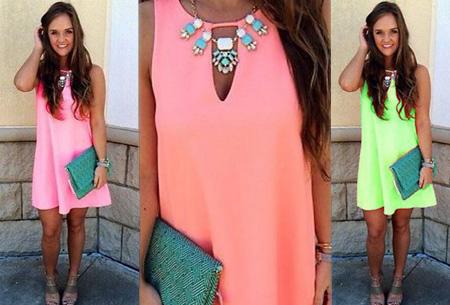 Kleurrijk en zomers jurkje