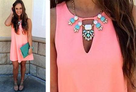 Candy Color jurk  | Kleurrijk zomeritem!  Watermeloen