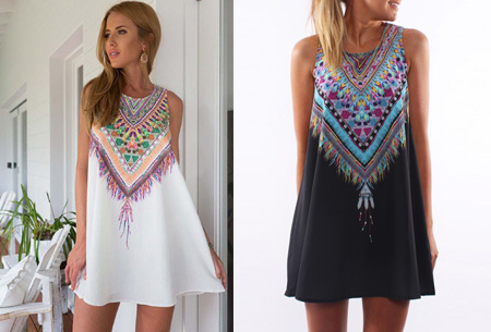 Indian feather dress nu slechts €9,95