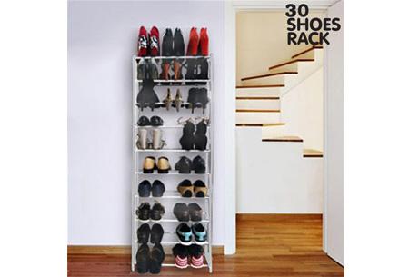Schoenenrek in 3 verschillende uitvoeringen   Berg je schoenen netjes op!