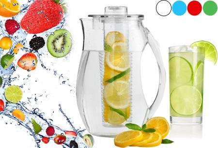 Waterkan met fruitfilter nu slechts €14,95