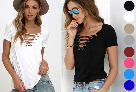 Lace up top nu slechts €9,95