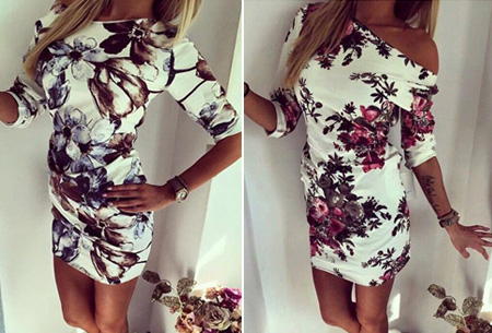 Flower dress nu slechts €11,95!