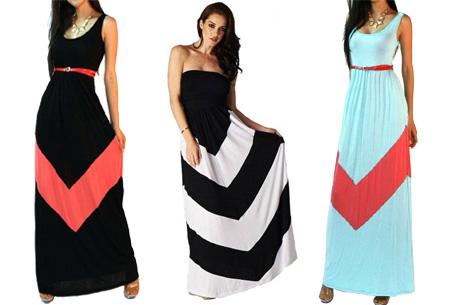 Duocolor maxi jurk nu al vanaf €14,95!
